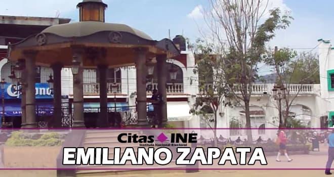 INE Emiliano Zapata teléfonos y direcciones