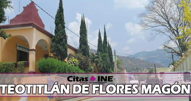 INE Teotitlán de Flores Magón teléfonos y direcciones